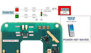 nokia n73 power button