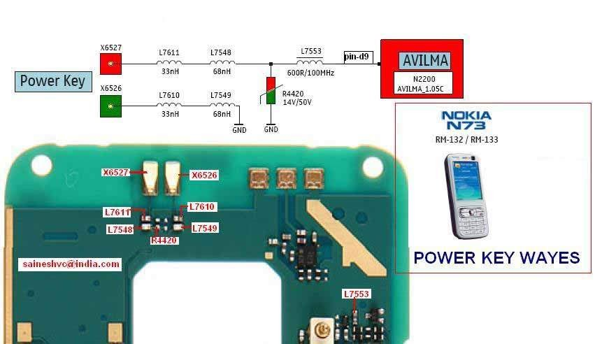 Nokia N73 Power Button Problem Picture Help