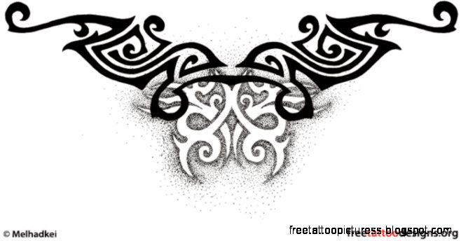 Free Tattoo Designs   Tribal Zodiac Cross Star Tattoos amp Ideas