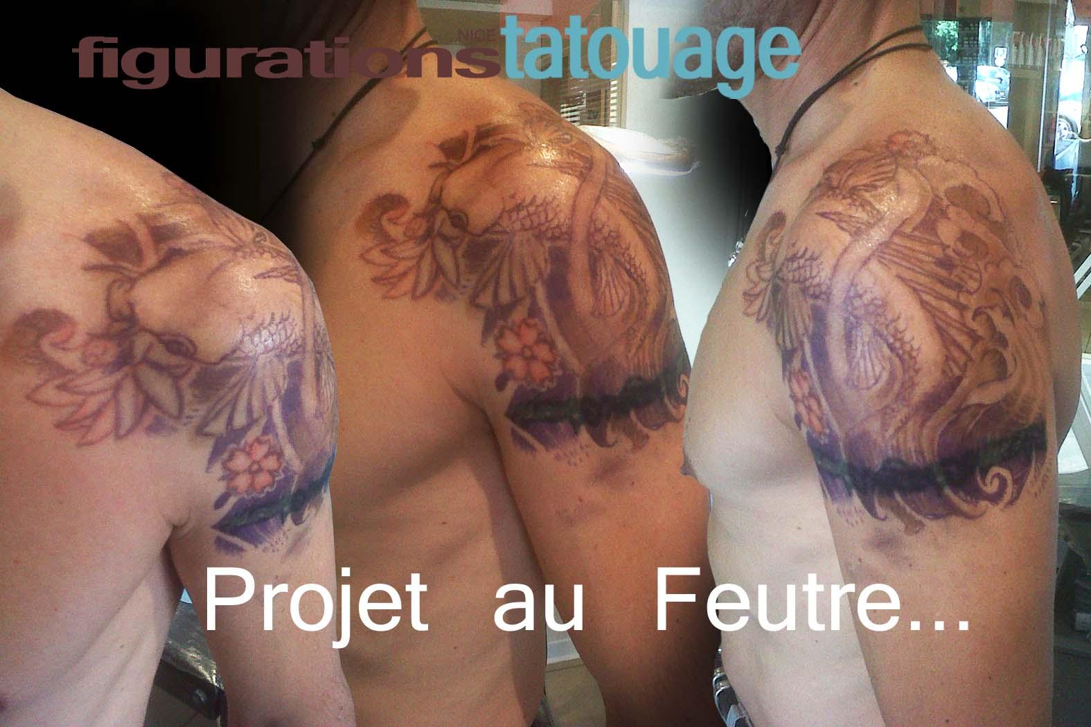 Carpe koi Carp koi Dessins et tatouages Draws and  - dessin carpe koi tatouage