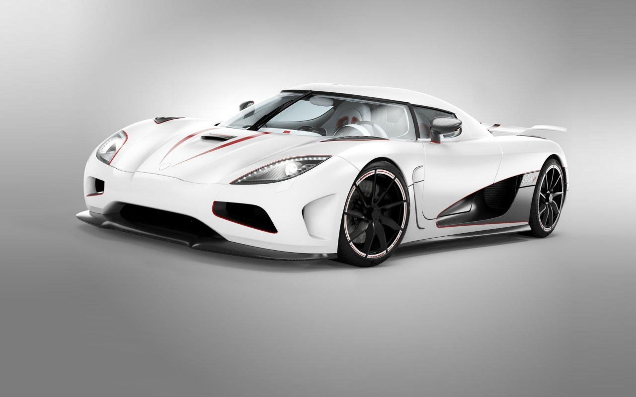 Бяла Koenigsegg Agera, HD Wallpaper