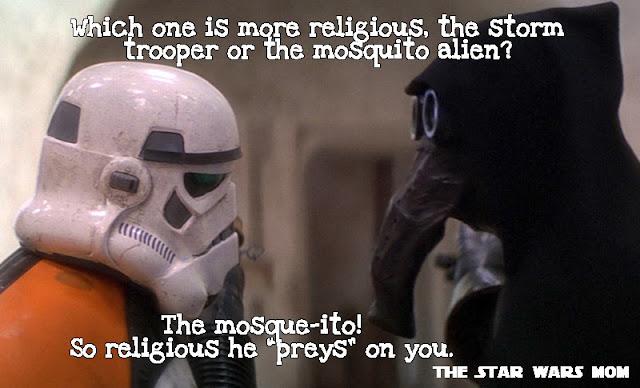 Star Wars Joke Storm Trooper and Mosquito Alien