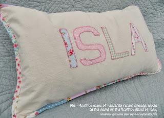 Girl's personlise name cushion - Isla