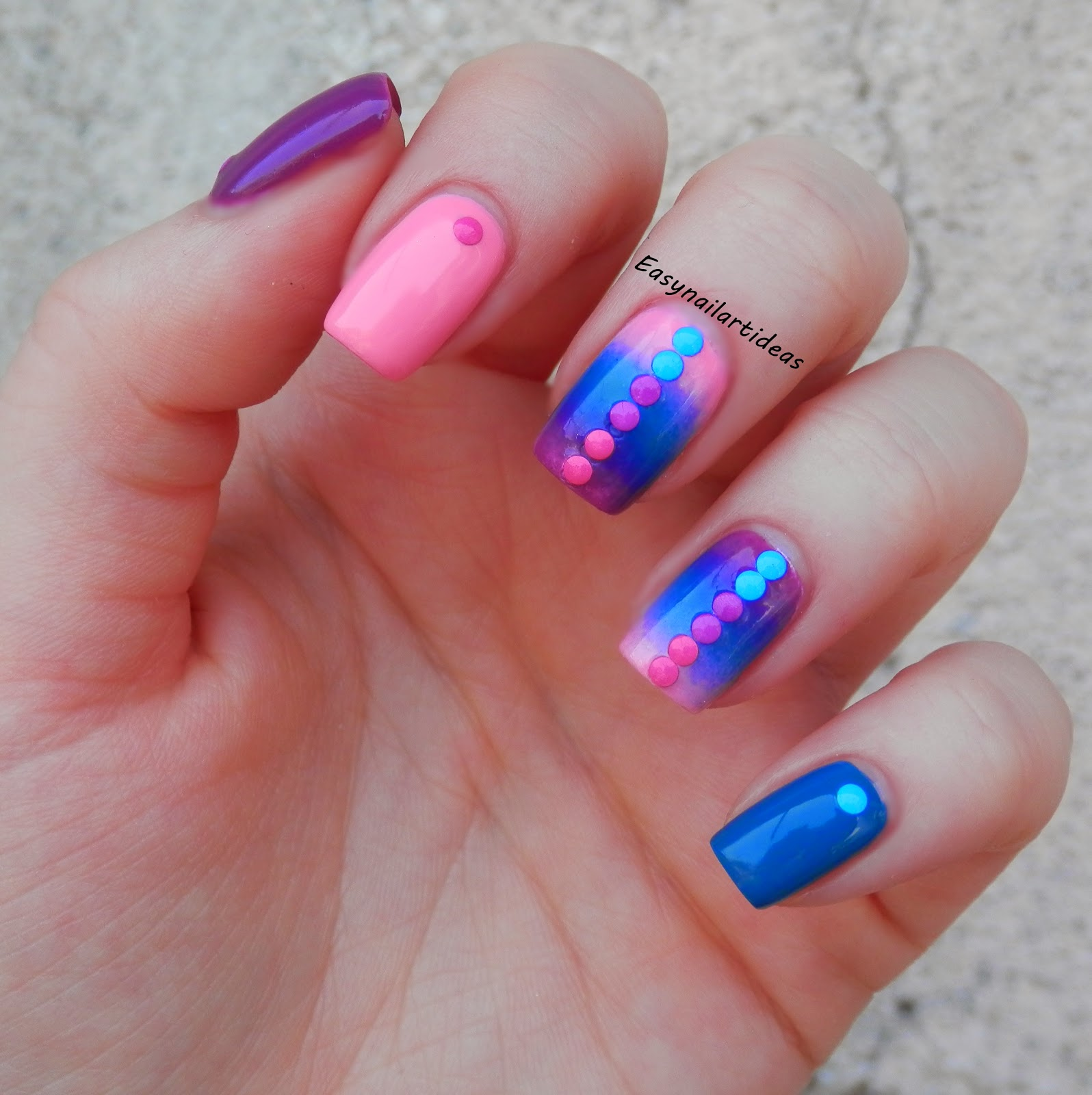 Easy Nail Art And Make Up Ideas Neon Studs Review And Nail Art