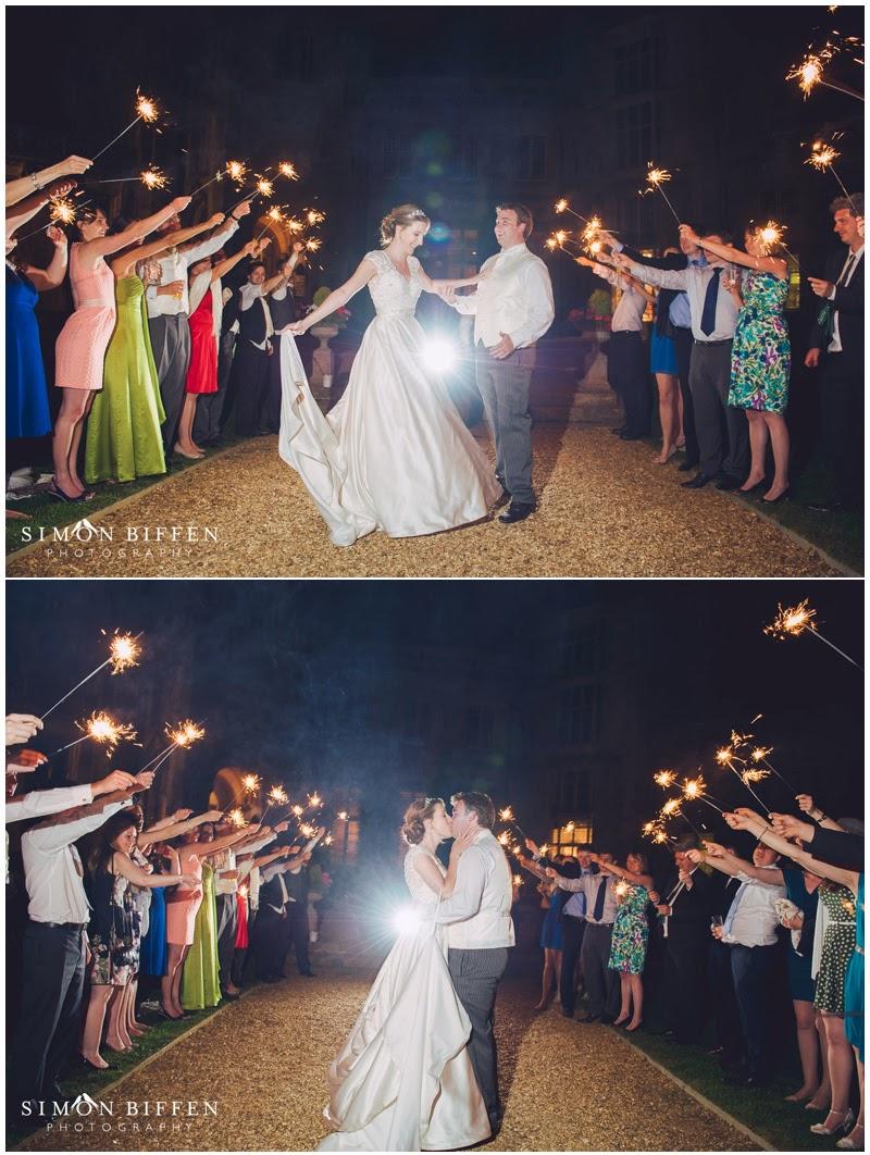 Sparkler sendoff wedding photograph Highcliffe Castle