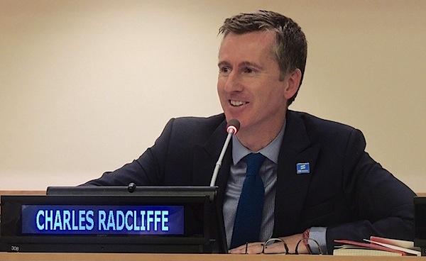 Charles Radcliffe é chefe da seção de assuntos globais para direitos humanos da ONU em Nova York e conselheiro sobre orientação sexual e gênero nas Nações Unidas.