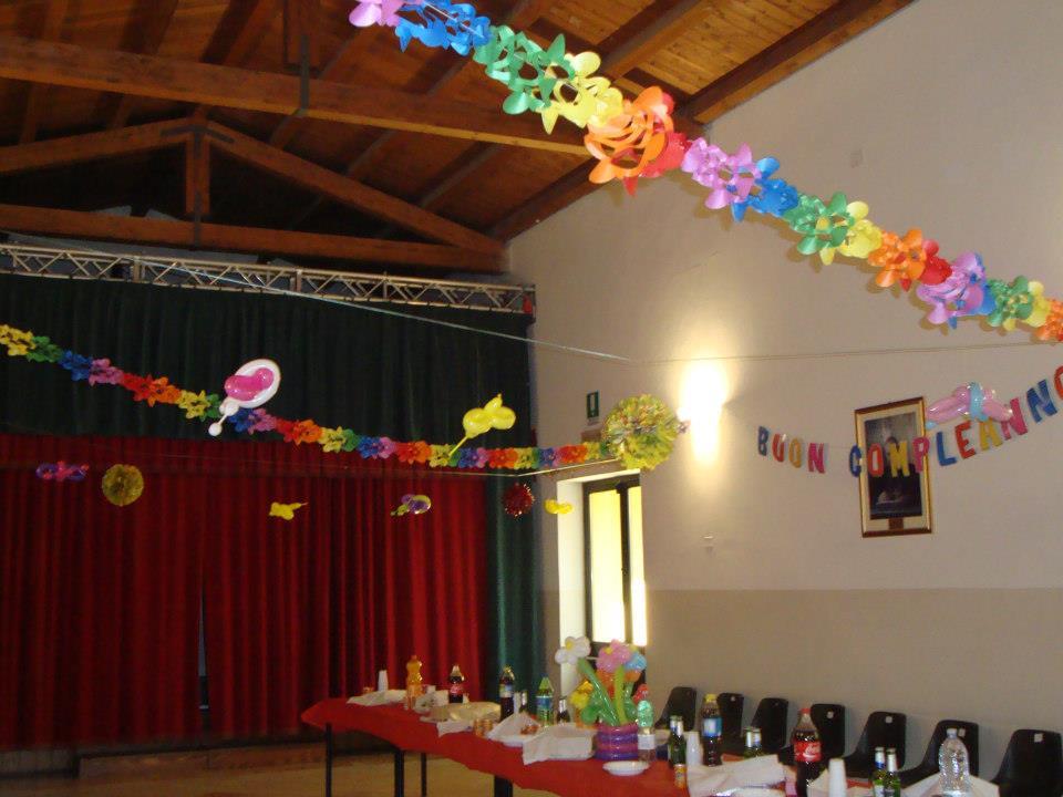 Decorazioni sala compleanno design casa creativa e for Decorazioni per feste
