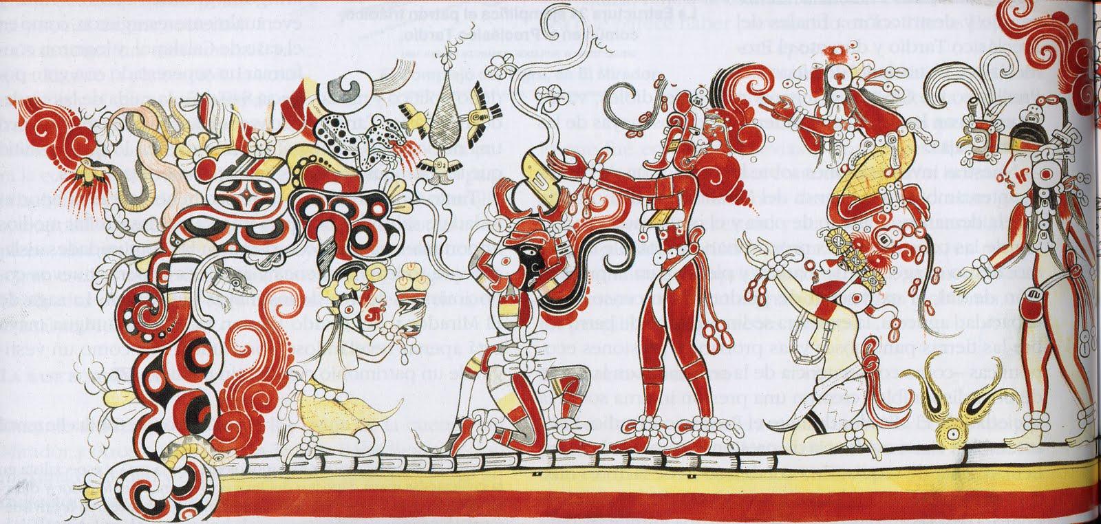 Literatura y mundo maya los murales mayas conferencia for Murales de fotos para pared