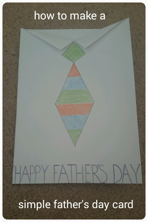 mama mummy mum making a simple father s day card