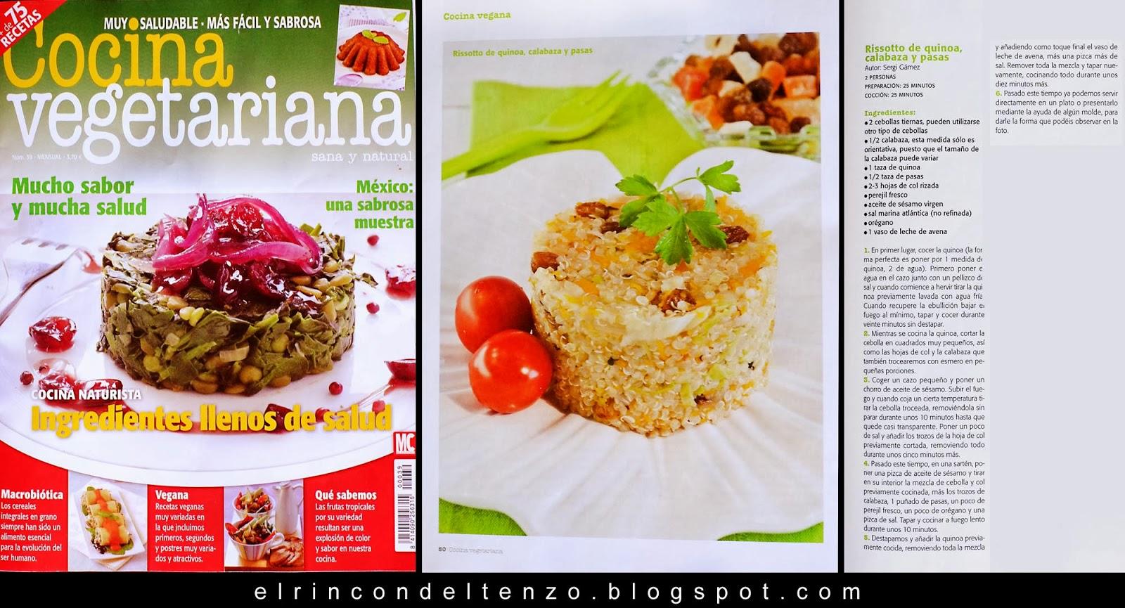 El rinc n del tenzo el rinc n del tenzo en la revista - Escuela de cocina vegetariana ...