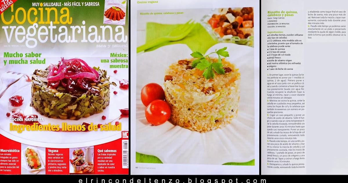 El rinc n del tenzo el rinc n del tenzo en la revista cocina vegetariana - Escuela de cocina vegetariana ...
