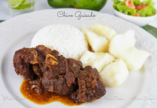 Goat stew chivo guisado mari 39 s cakes english for Cocinar in english