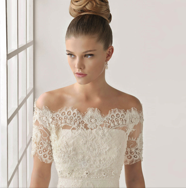 Dress of the week rosa clara wedding tops belle the for Wedding dress lace bolero