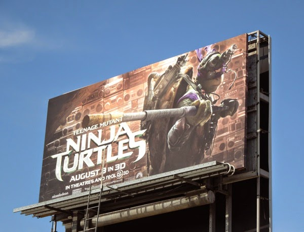 Donatello Teenage Mutant Ninja Turtles movie billboard