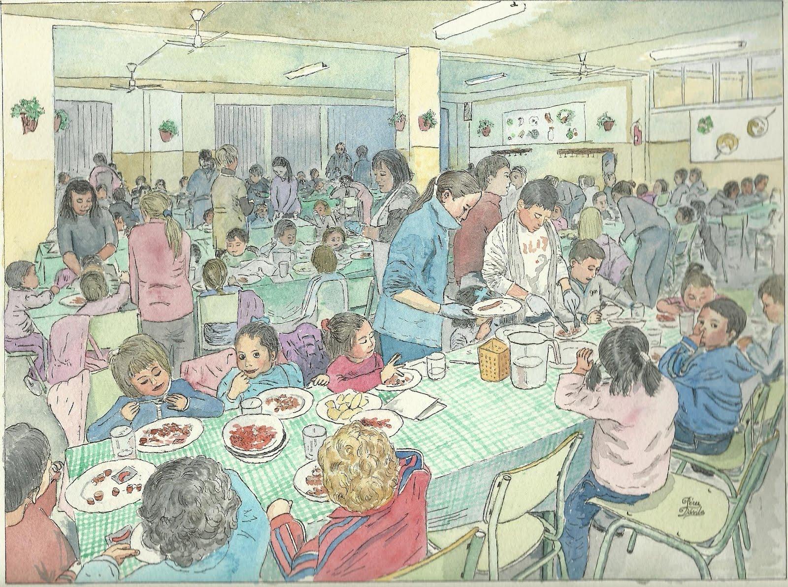 Dime que comes comedores escolares progresan for Dibujo de comedor escolar
