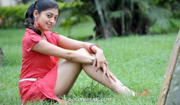 Pranitha is a babe in this red dress with a white belt. Great poses! - pranitha in red dress pics