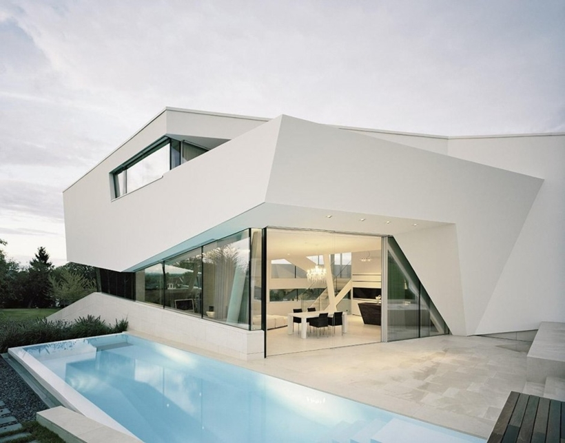 Facade of Villa Freundorf by Project A01 Architects