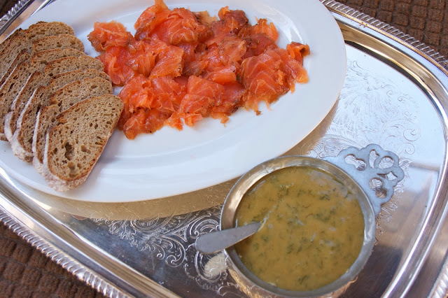 Dilled Gravlax with Mustard Sauce: simple living and eating