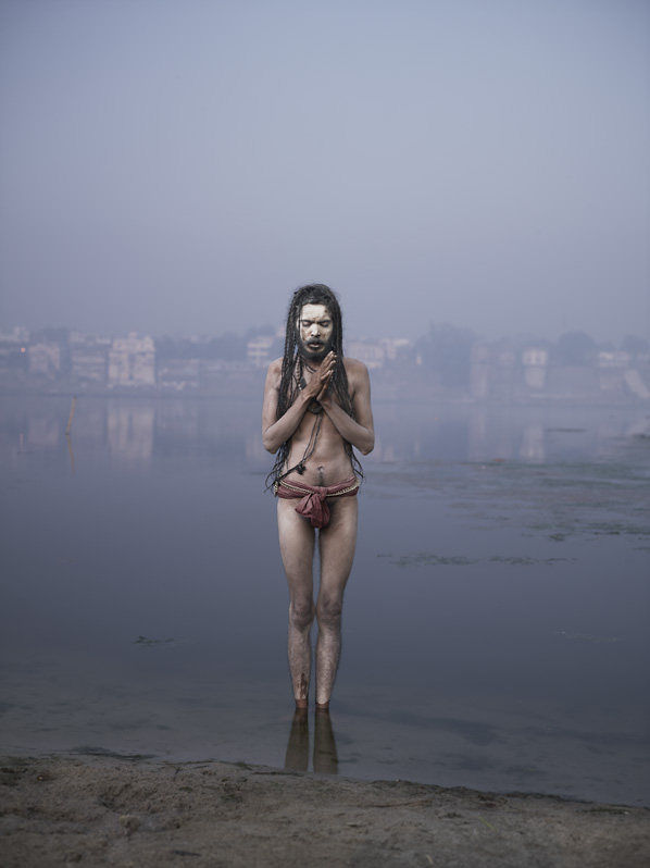 BABA MOONI  Baba Mooni conducting Aghori Puja in Varanasi, India