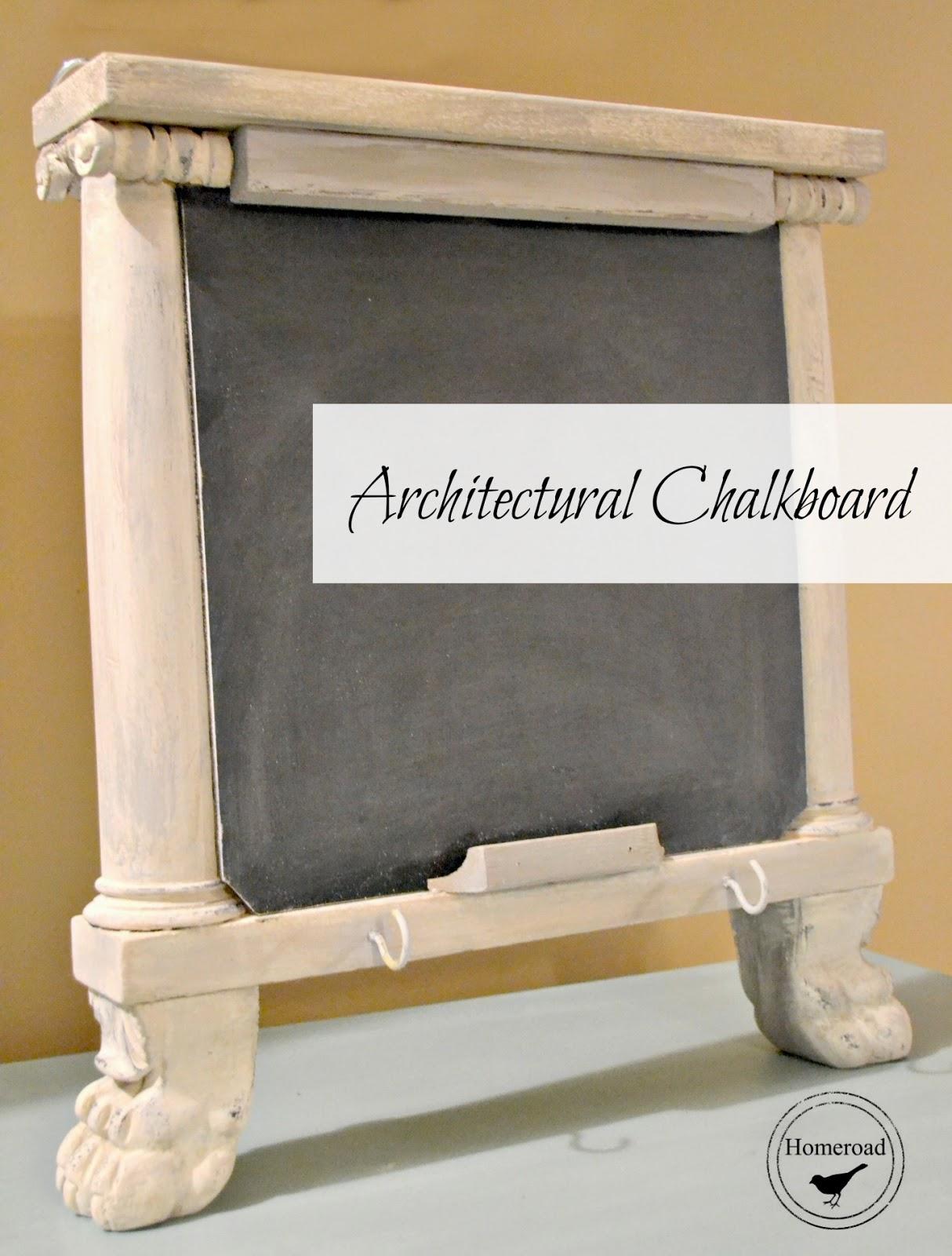 repurposed architectural chalkboard www.homeroad.net