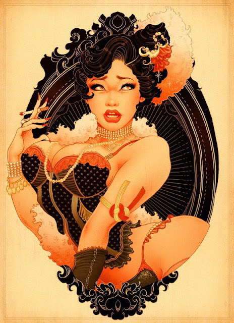 Burlesque Pin up girl