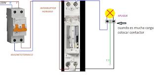 interruptor horario conexiones