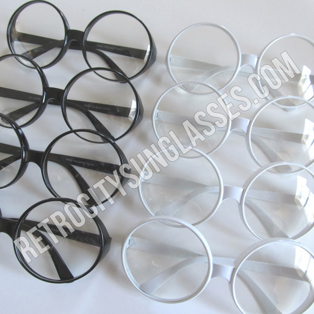 Clear Retro Sunglasses