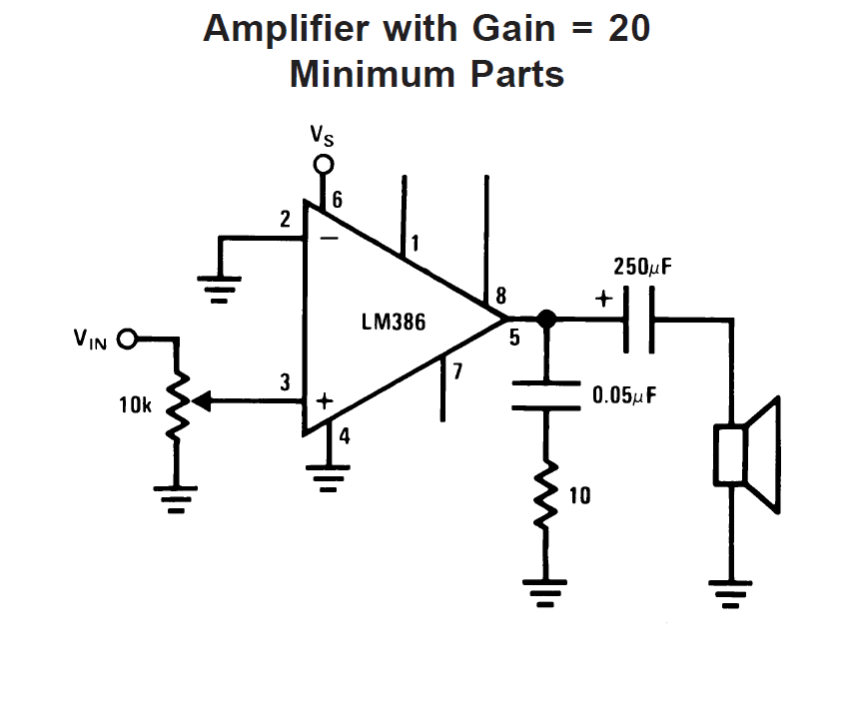 Ic Lm 386 Datasheet Explained In Simple on 5 volt power supply circuit diagram