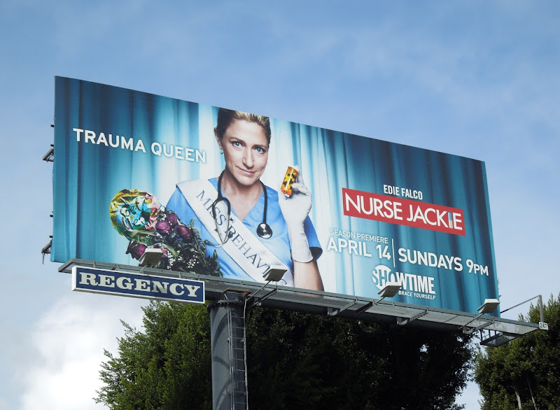Nurse Jackie season 5 Trauma Queen billboard