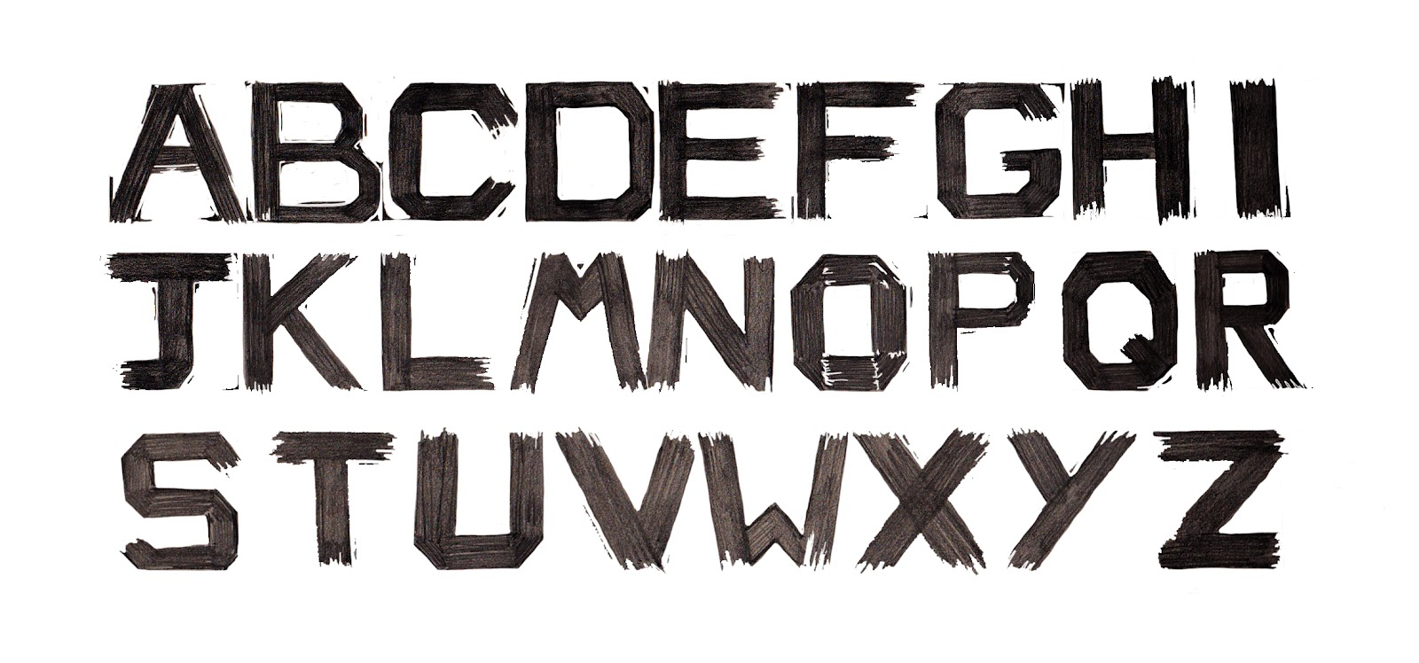 Family Font Design Designed my Own Font Which