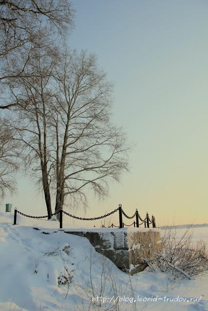 Зима на реке