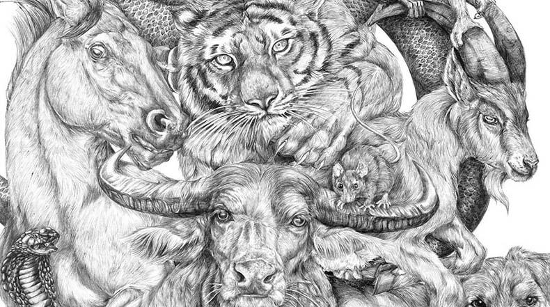 Artista de 19 años pasó su verano dibujando esta épico póster del Zodiaco Chino