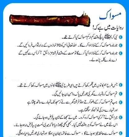 how to use miswak in urdu