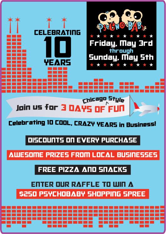 Psychobaby's 10th Cool, Crazy Birthday Celebration