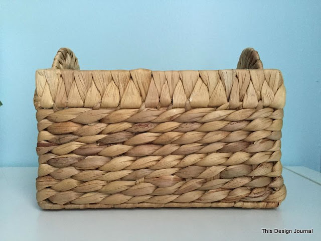 painted old basket