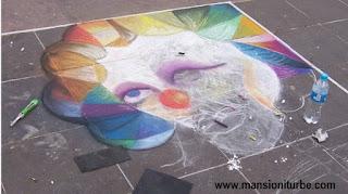 Festival de Arte Efímero con Gises de Colores en Pátzcuaro