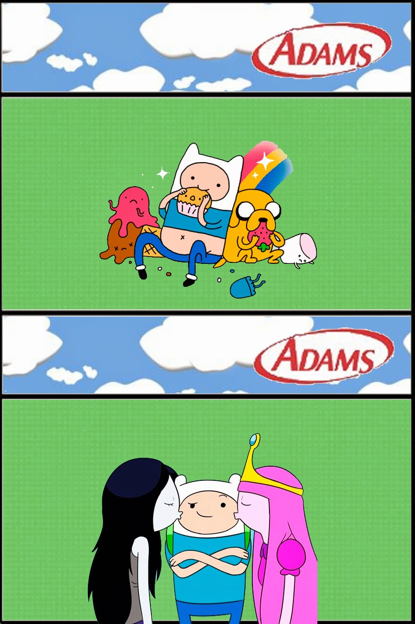 Etiquetas para chicles Adams.