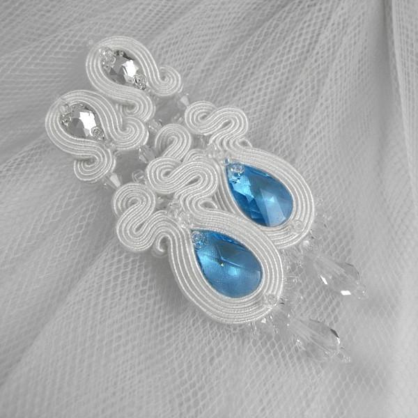 Sutasz ślubny kolczyki z kryształami Swarovski