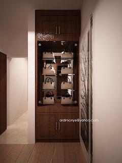 desain lemari pajangan