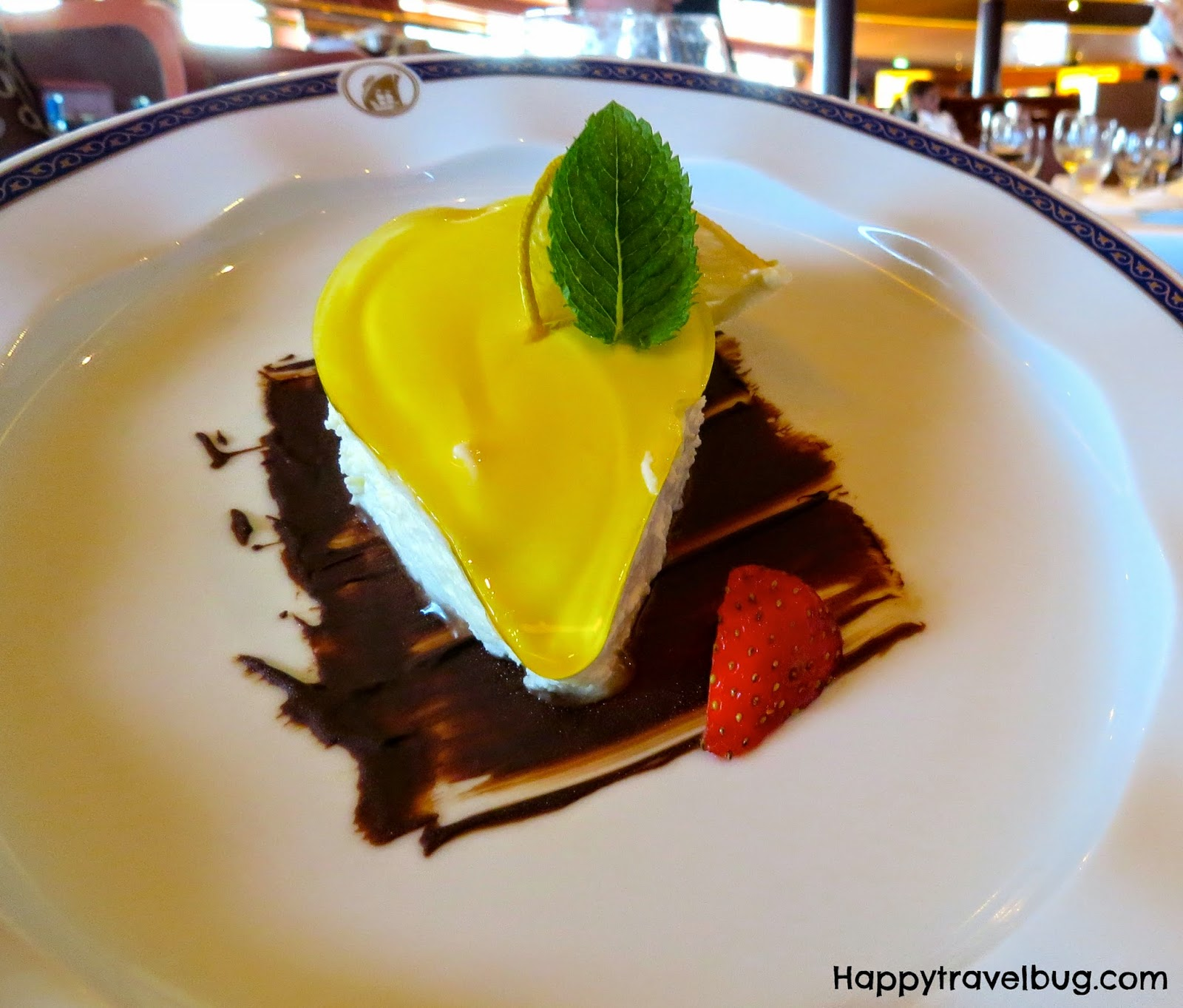 Lemon torte from dinner on our Holland America Cruise