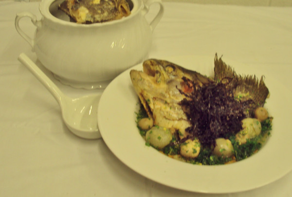 The cotswold food year turbot and trout fish head soup for Fish head soup recipe