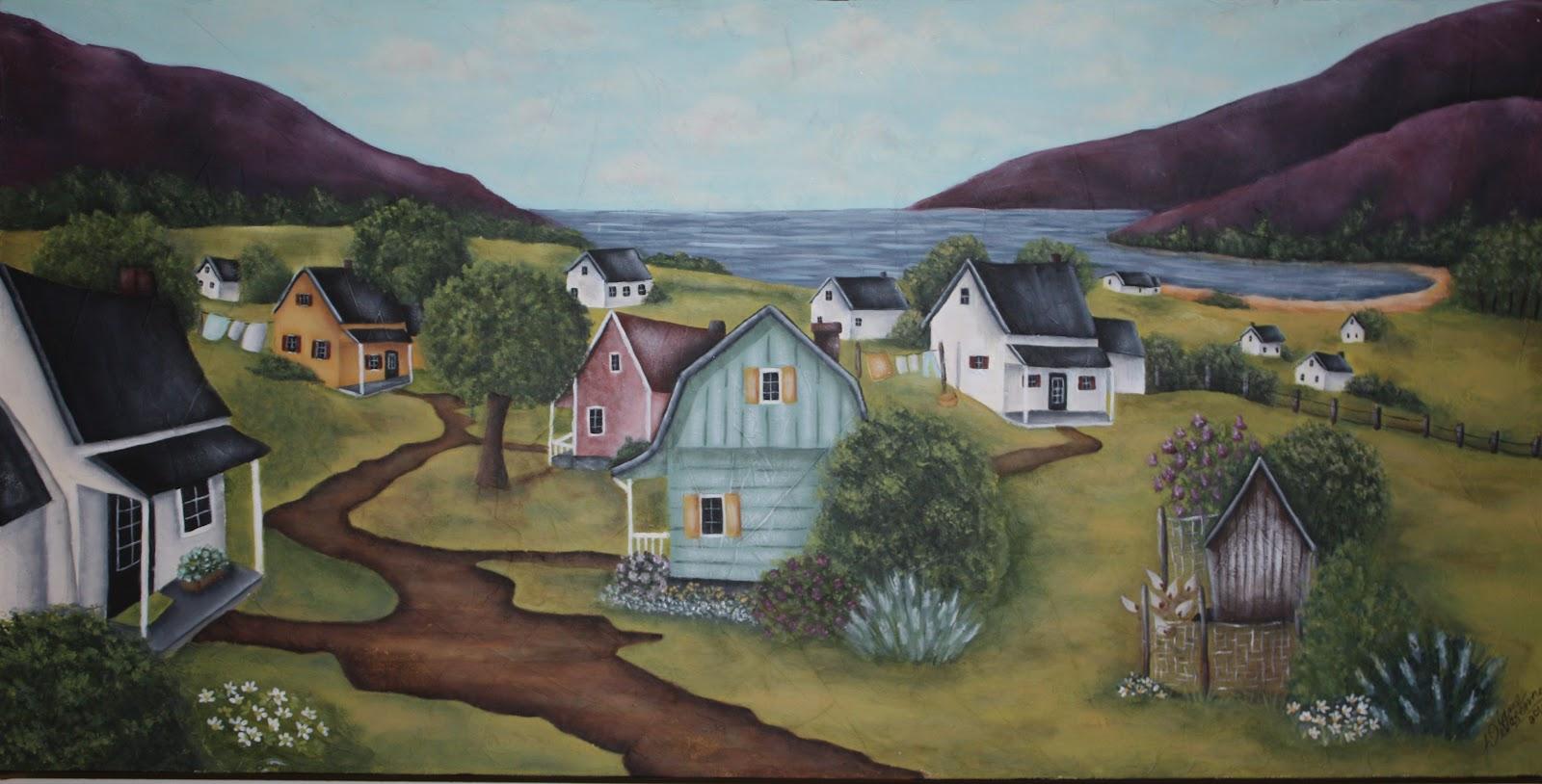 Diane devarennes peinture d corative le paysage est un for Modele de peinture decorative