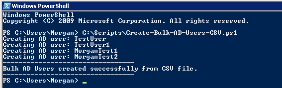 Powershell - Create Bulk AD Users from CSV