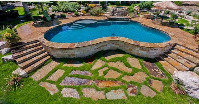 Fotos de piscinas piscinas casas terreras - Fotos de casas con piscina ...
