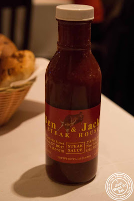 Image of steak sauce at Ben and Jack's steakhouse in Murray Hill NYC, New York
