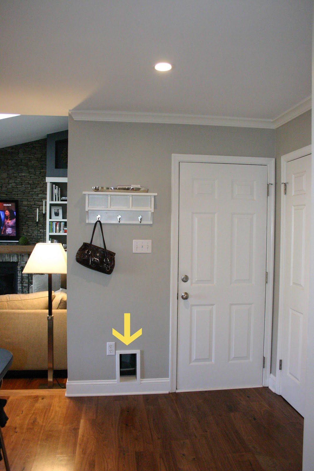 The Photo Above Was Taken While Standing In The Kitchen. The Door To The  Right Of The Hole Is The Door Leading Into The Garage.