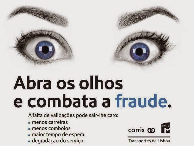 Combata a Fraude, Carris, Metro, Transportes de Lisboa
