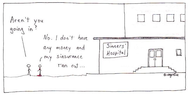 hospital for sinners, cartoon by robg