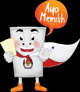 free download gambar desain maskot pemilu legislatif anggota dpr, dpd, dprd tahun 2014