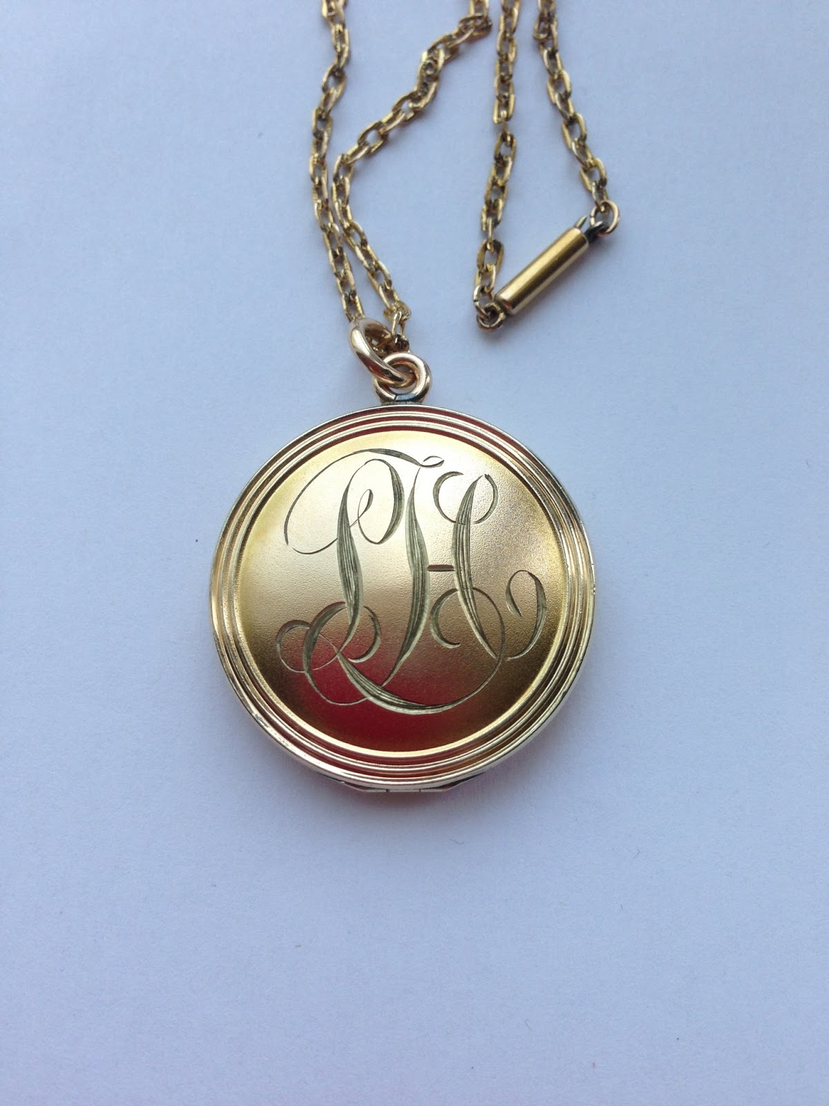 engraved deal small large lockets monogram or jane necklace save you locket